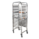 Detachable Stainless Steel Hospital Mobile Food Service Cart with Wheels