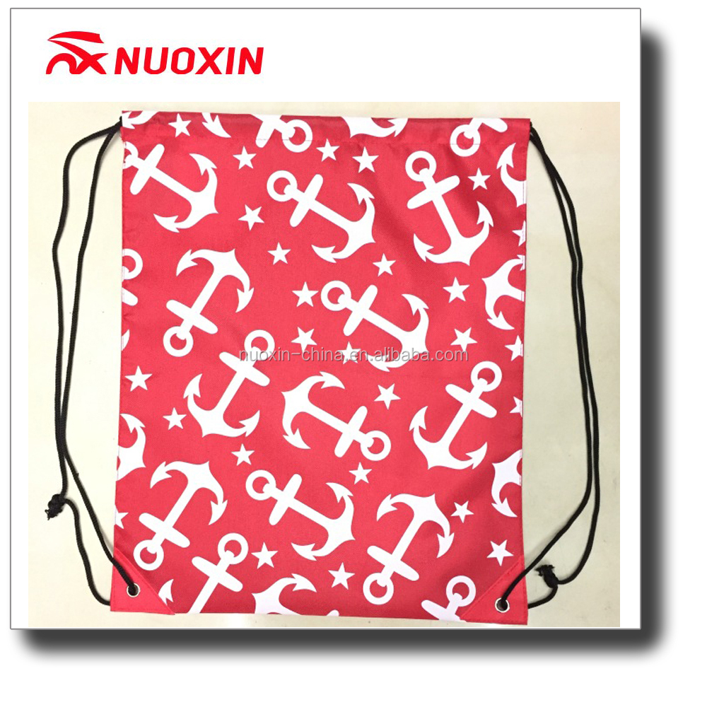 NX FLAGS 210D Oxford and polyester cheap drawstring sports bag