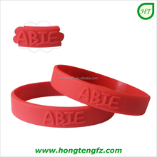 Kids silicone wristbands promotional giveaway, embossed logo custom rubber bracelets for children