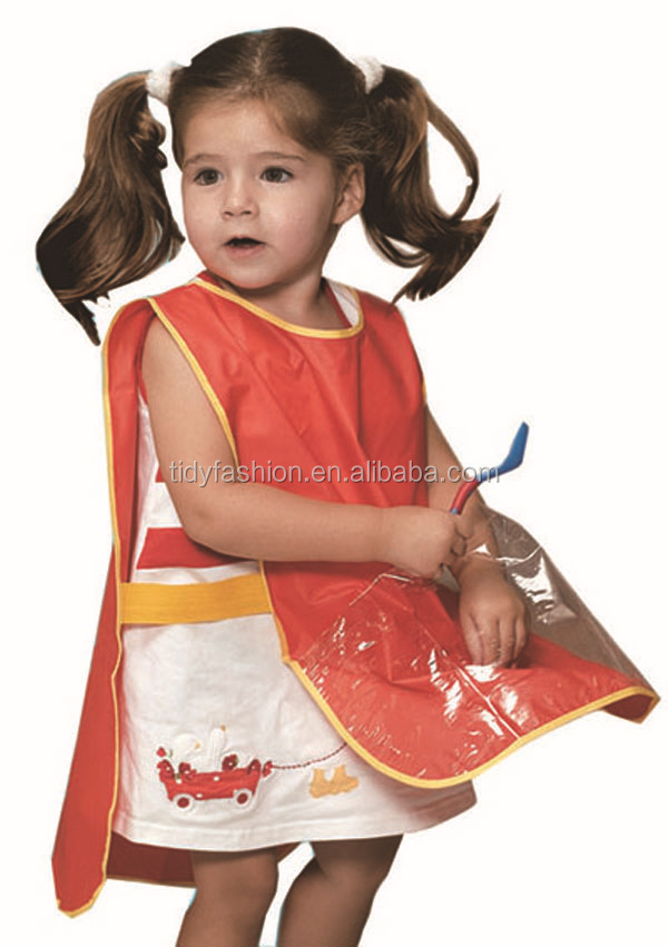 Waterproof Plastic PVC Reusable Kitchen Drawing Kids Apron
