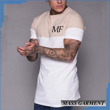 Custom Wrinkle Free Shirt Wholesale Color Stitching Blank T Shirt Men