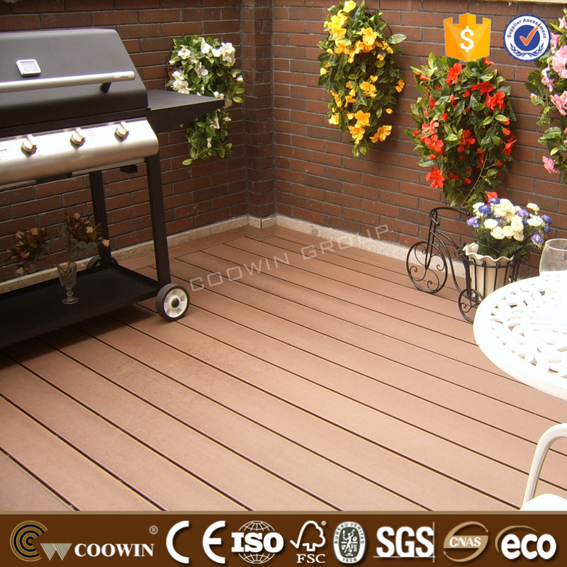 No Maintenance high quality wpc decking balcony floor covering wooden villa