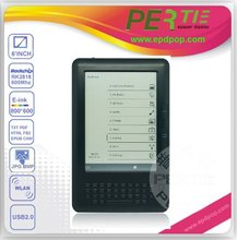2012 & 2013 hot mid e book with good qualit 6 inch Rockchip 2818 600MHz E-ink Ebook reader