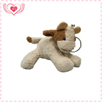 Promotional cute custom plush animal key chains made in china factory