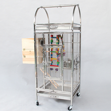 stainless steel parrot cage C01