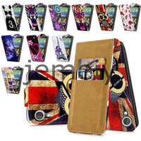 2015 Pretty Printed Patterns Flip PU Leather Case for HTC Desire 820