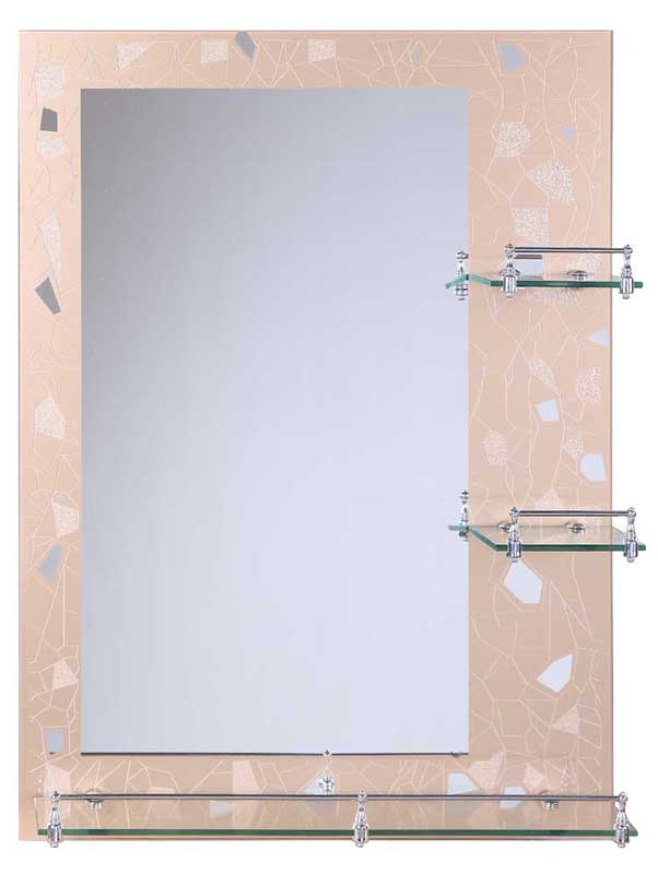 QIERAO decorative vanity wall mirror with shelf