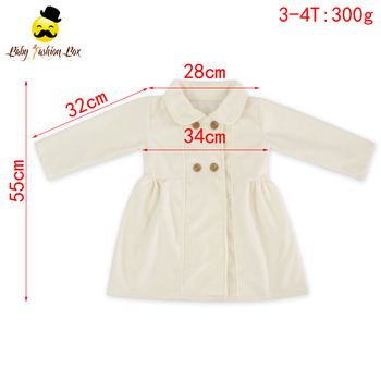 Girls Frock Design White Long Sleeve Boutique Kurti Jacket Cashmere Coat Winter Jacket