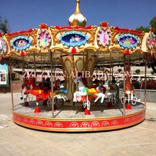 new 36 seats amusement ride Luxury Carousel/luxury Double Decker Carousel/outdoor kids fun rides