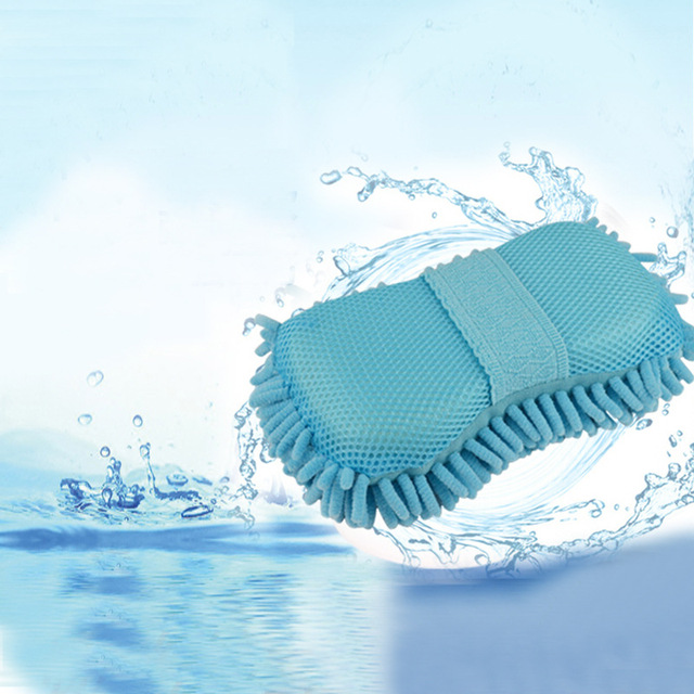 Microfiber Coral Chenille Fiber Sponge Pad Cleaning Tool Hand Brush Car Wash Cleaning Sponge