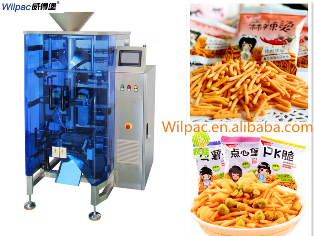 Wilpac potato chips automatic collar type pouch packing machine with multihead weigher