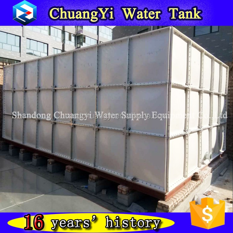 Easy to install fiberglass pressure water tank, grp panel section water tank, frp water tank use in industry