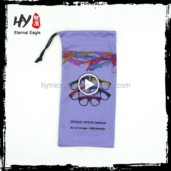 Wholesale promotional microfiber sunglass drawstring pouch
