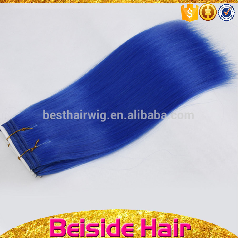 Different types of synthetic hair lady star hair products blue curly hair weave color
