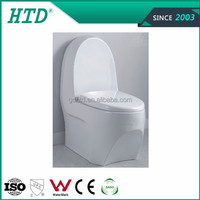 Hot sale western design one piece sanitary ware toilet with slowly down seat cover---HTD-MA-2075