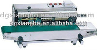 FR-900 continuous plastic bag sealing machine/automatic sealer machine steel wheel printing code date