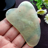 handheld natural jade guasha board scraping massage tool