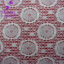 65% Cotton With 35% Nylon Sequin Lace Fabric For Garment