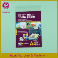 china custom printed A4 paper packing opp plastic bag with self adhesive