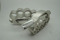 OLD SCHOOL CHROME KNUCKLE KNUCKS FOOT PEGS PEG PAIR HARLEY MOUNT BOBBER CHOPPER