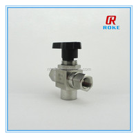high performance 6000 psi double ferrule 1/4 3/8 1/2 inch ss316 ball valves
