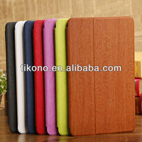 Fold two holder case for ipad 5,for air ipad wood cover