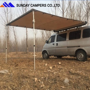 4x4 Polyester Canvas Car side awning on sale from china factory Sunday campers
