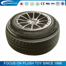 Car tire looklike simulation plush cushion pillow toy