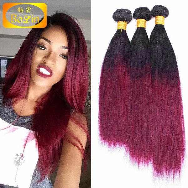 Wholesale 6A cheap human hair extension ,natural color Indian hair