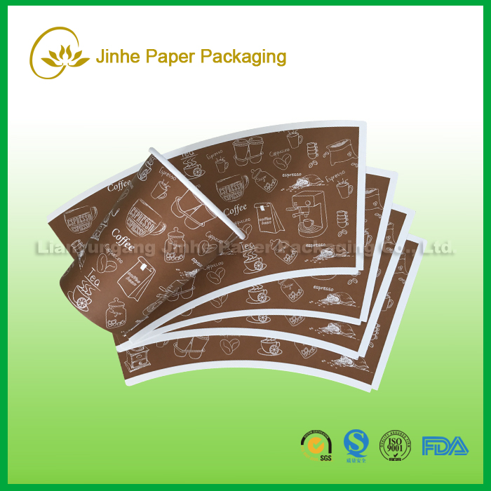 paper 20oz paper fan shape fruit design paper in roll