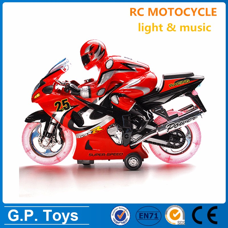 2 channels rc toy wholesale rc motorcycle with light & music