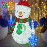 Christmas decoration LED light street motif 3D snowman sculpture indoor and outdoor