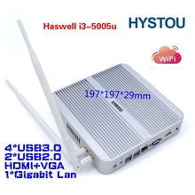 HYSTOU new products desktop computer Intel core i3 5005u as home theater speaker system with HDMI VGA dual band 300M WiFi