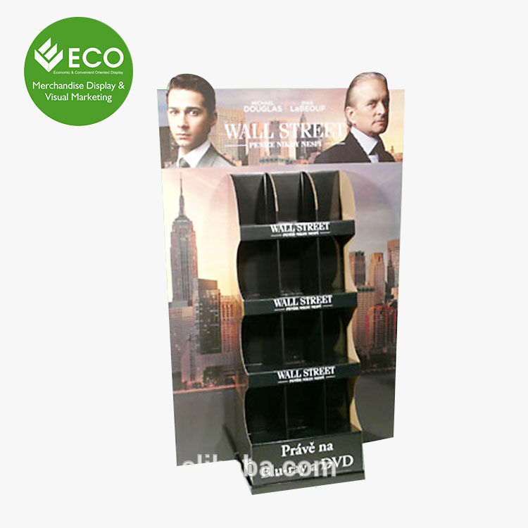 Video Stores Cardboard Display Stand For Cd/Dvd