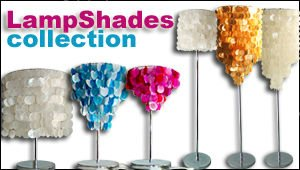 Philippines Lamp Shades Collection made of Capiz Shells