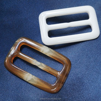 POLISHING RESIN CAFE BUCKLE FOR GARMENT