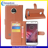 Lichee Pattern pu leather wallet case cover for moto z2 play kickstand case