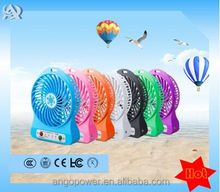 Wholesale portable hot sale micro portable l standing table rechargable fan with led light