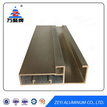 Electrophoresis aluminum profile section for aluminum kitchen cabinet