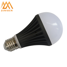 Get $500 coupon china factory balck aluminum home lighting 9w e27 led bulb