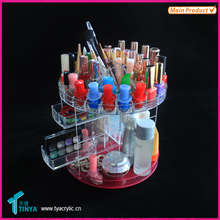 New Products Tabletop Makeup Orgamizer Stand, Rotating Nail Polish Display, Clear Acrylic Cosmetic Cases