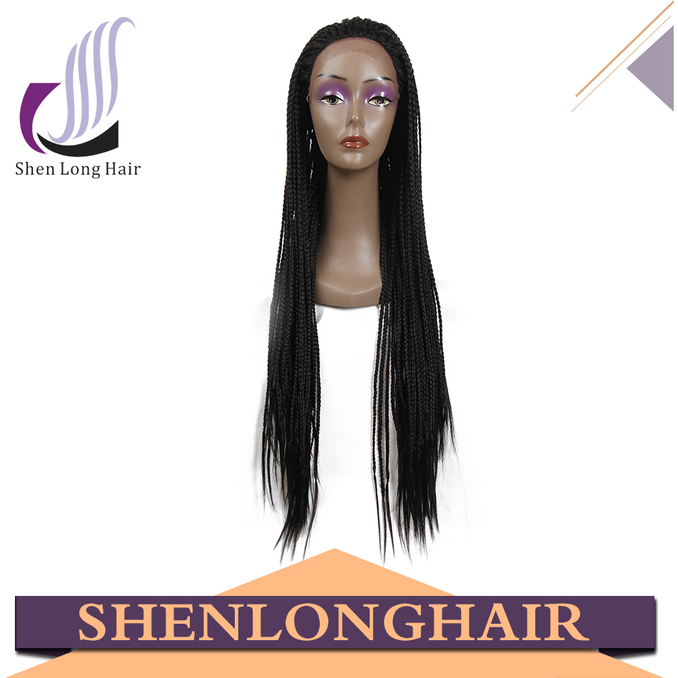 Perruque lace wigs fully hand braided lace front synthetic wig