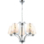 Italian Modern Fabric Cover Fancy Silver Chandelier Pattern Pendant Light