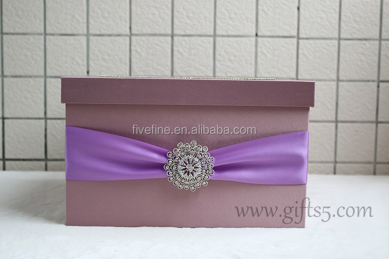 Elegant Custom Made Wedding Card Box Reception Box gift card containers