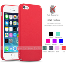 Full Cover Ultra Slim Forsted hard PC Matte Colorful Phone Case Back Cover For Apple iPhone 5