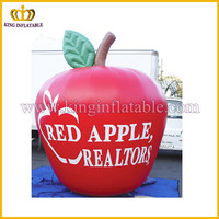 China cheap price PVC inflatables, inflatable apple model, promotion inflatable replica