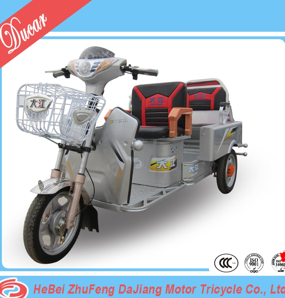 Chian Ducar JinDie folded electric motor tricycle E rickshaw E trike whith 48V500W differential mortor for cargo and passenger