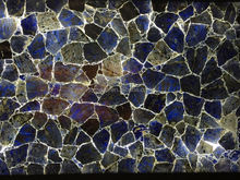 Factory price funiture Natural Blue Sodalite Drop Style Chips Stone Beads marble table/funiture