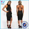 sexu back open evening dress in black punjabi dress neck design