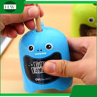 portable plastic colorful funny child cartoon dinosaur battery electric pencil sharpener